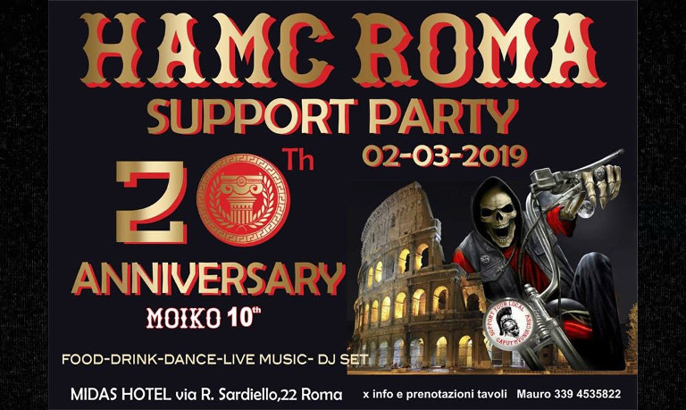 HAMC ROMA Support Party 2019